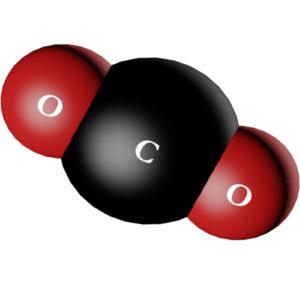 Đá khô là gì - Phân tử CO2